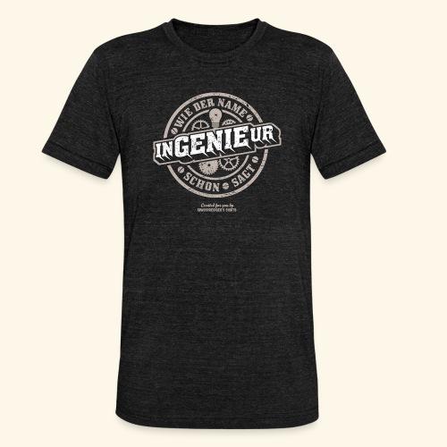 Ingenieur T Shirt Genie   Geschenkidee - Unisex Tri-Blend T-Shirt von Bella + Canvas