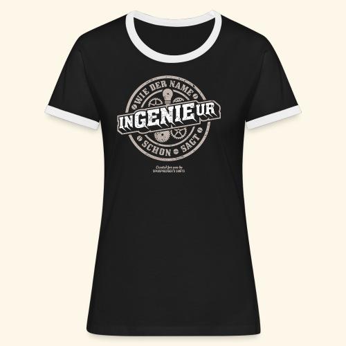 Ingenieur T Shirt Genie   Geschenkidee - Frauen Kontrast-T-Shirt