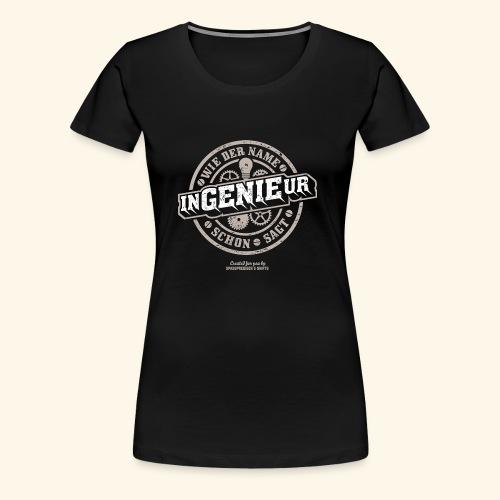 Ingenieur T Shirt Genie   Geschenkidee - Frauen Premium T-Shirt