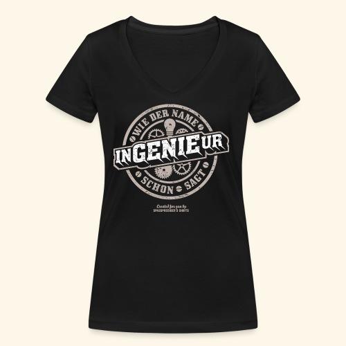 Ingenieur T Shirt Genie   Geschenkidee - Frauen Bio-T-Shirt mit V-Ausschnitt von Stanley & Stella