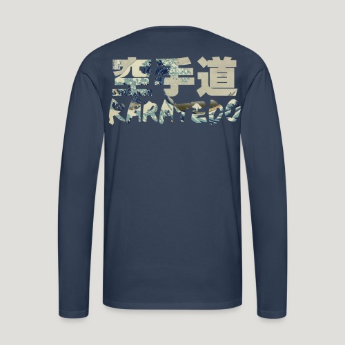 Karate Hokusai The Great Wave - Mannen Premium shirt met lange mouwen