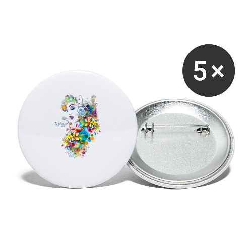 Lady singer Tee shirts - Lot de 5 moyens badges (32 mm)