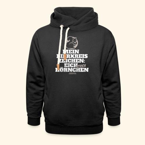 Lustiges Bier T Shirt Eichstrichhörnchen - Schalkragen Hoodie