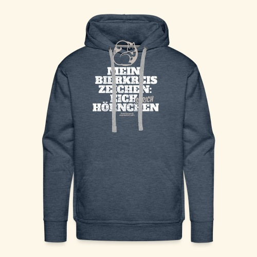 Lustiges Bier T Shirt Eichstrichhörnchen - Männer Premium Hoodie