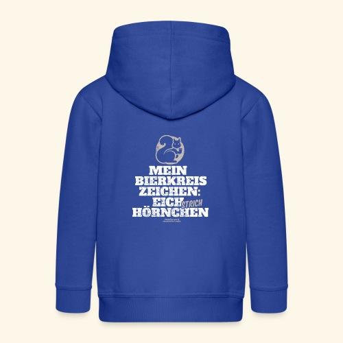 Lustiges Bier T Shirt Eichstrichhörnchen - Kinder Premium Kapuzenjacke