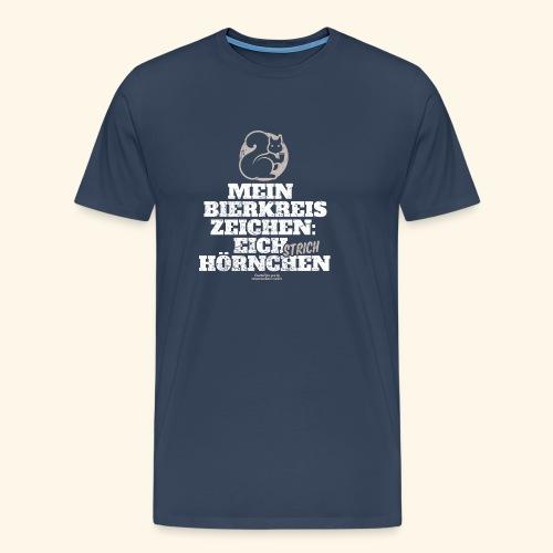 Lustiges Bier T Shirt Eichstrichhörnchen - Männer Premium T-Shirt