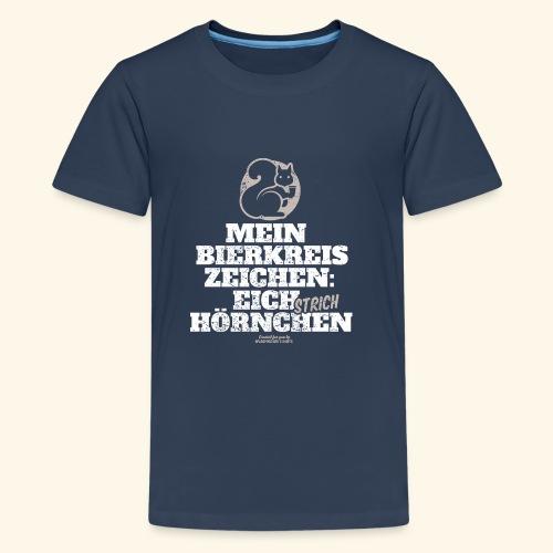 Lustiges Bier T Shirt Eichstrichhörnchen - Teenager Premium T-Shirt