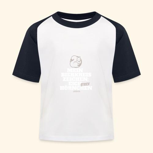 Lustiges Bier T Shirt Eichstrichhörnchen - Kinder Baseball T-Shirt