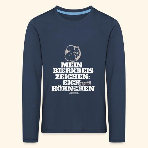 Lustiges Bier T Shirt Eichstrichhörnchen - Kinder Premium Langarmshirt