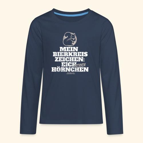 Lustiges Bier T Shirt Eichstrichhörnchen - Teenager Premium Langarmshirt