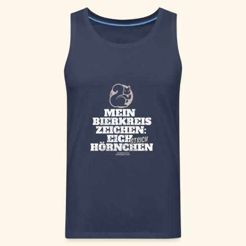 Lustiges Bier T Shirt Eichstrichhörnchen - Männer Premium Tank Top