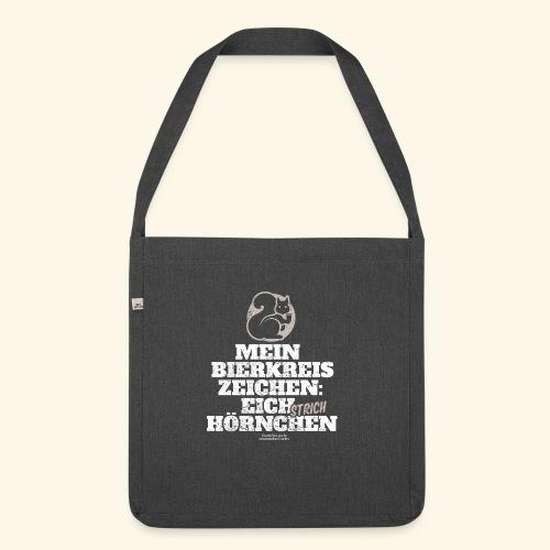 Lustiges Bier T Shirt Eichstrichhörnchen - Schultertasche aus Recycling-Material