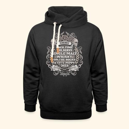 Whisky T Shirt Single Malt Whisky - Schalkragen Hoodie