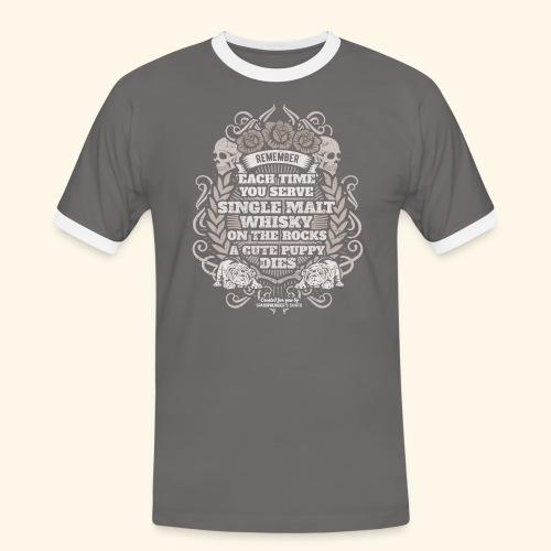 Whisky T Shirt Single Malt Whisky - Männer Kontrast-T-Shirt