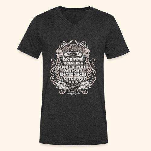Whisky T Shirt Single Malt Whisky - Männer Bio-T-Shirt mit V-Ausschnitt von Stanley & Stella