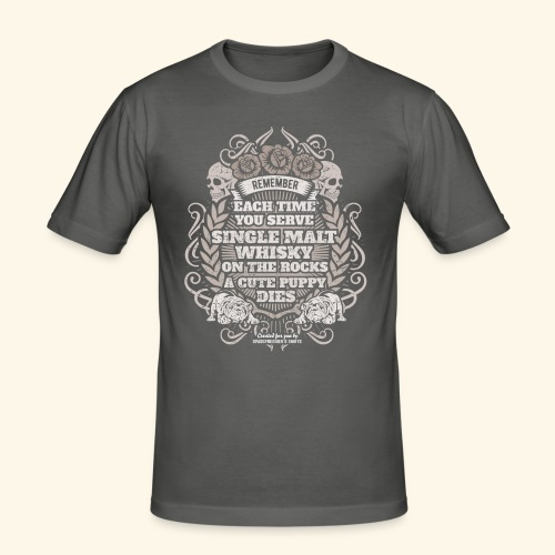 Whisky T Shirt Single Malt Whisky - Männer Slim Fit T-Shirt