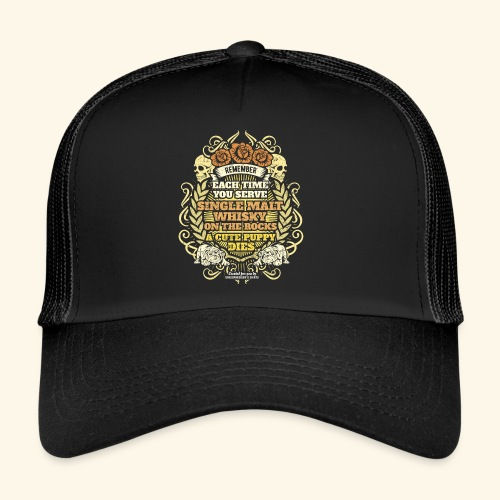 Whisky T Shirt Single Malt Whisky - Trucker Cap