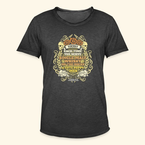 Whisky T Shirt Single Malt Whisky - Männer Vintage T-Shirt