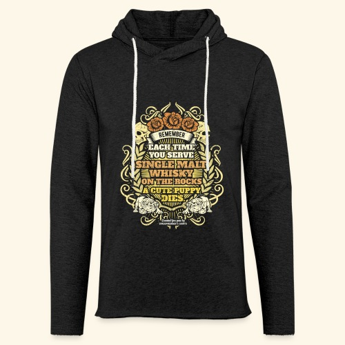 Whisky T Shirt Single Malt Whisky - Leichtes Kapuzensweatshirt Unisex