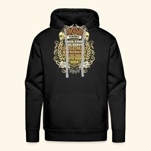 Whisky T Shirt Single Malt Whisky - Männer Premium Hoodie
