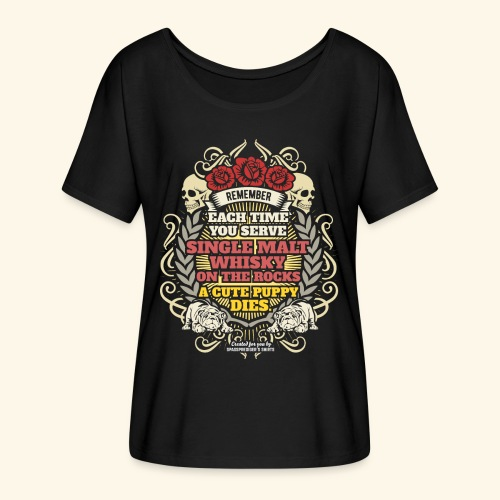 Whisky T Shirt Single Malt Whisky - Frauen T-Shirt mit Fledermausärmeln von Bella + Canvas
