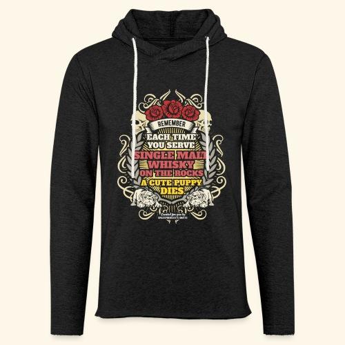 Whisky T Shirt Single Malt Whisky - Leichtes Kapuzensweatshirt Unisex