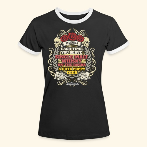 Whisky T Shirt Single Malt Whisky - Frauen Kontrast-T-Shirt