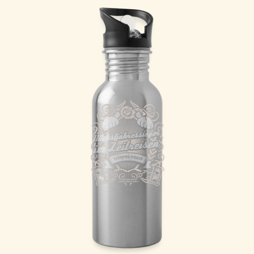 Lustiges Sprüche T Shirt Zeitreisen - Trinkflasche