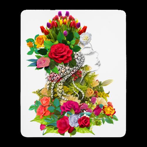 Lady flower by T-shirt chic et choc - Tapis de souris (format portrait)