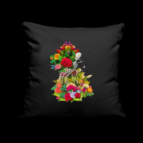 Lady flower by T-shirt chic et choc - Housse de coussin décorative 45x 45cm