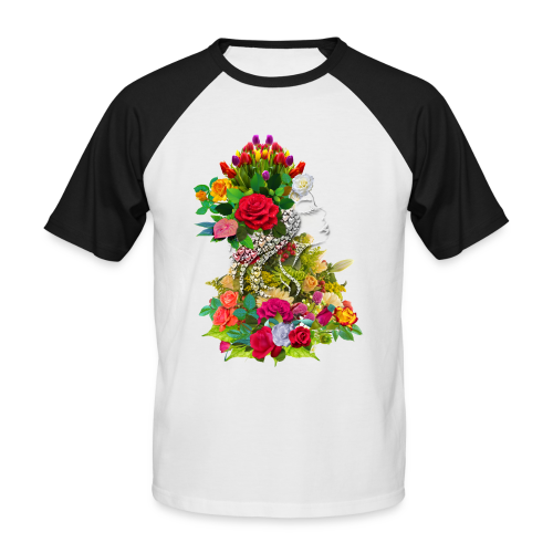 Lady flower by T-shirt chic et choc - T-shirt baseball manches courtes Homme