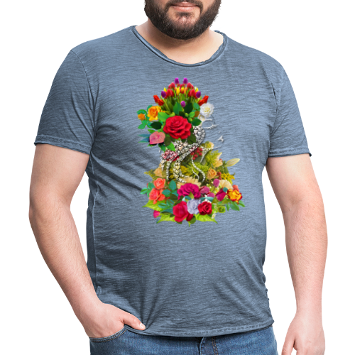 Lady flower by T-shirt chic et choc - T-shirt vintage Homme