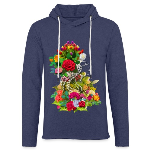 Lady flower by T-shirt chic et choc - Sweat-shirt à capuche léger unisexe