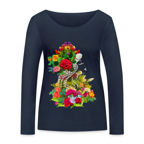 Lady flower by T-shirt chic et choc - T-shirt manches longues bio Stanley & Stella Femme