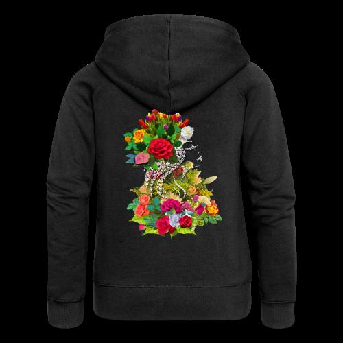 Lady flower by T-shirt chic et choc - Veste à capuche Premium Femme