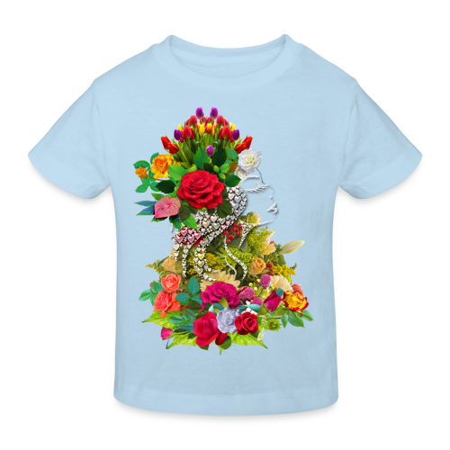 Lady flower by T-shirt chic et choc - T-shirt bio Enfant