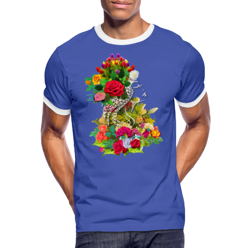 Lady flower by T-shirt chic et choc - T-shirt contrasté Homme