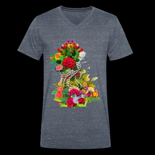 Lady flower by T-shirt chic et choc - T-shirt bio col V Stanley & Stella Homme