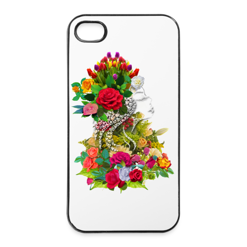 Lady flower by T-shirt chic et choc - Coque rigide iPhone 4/4s