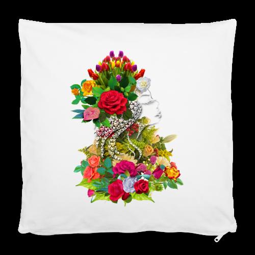 Lady flower by T-shirt chic et choc - Housse de coussin 40 x 40 cm