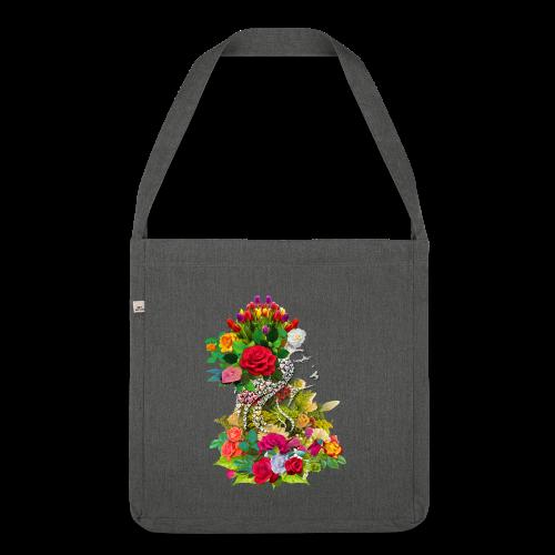 Lady flower by T-shirt chic et choc - Sac bandoulière 100 % recyclé