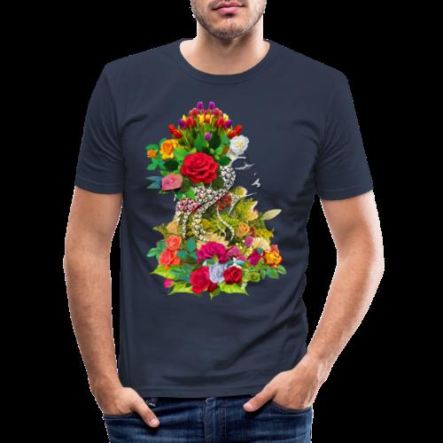 Lady flower by T-shirt chic et choc - T-shirt près du corps Homme