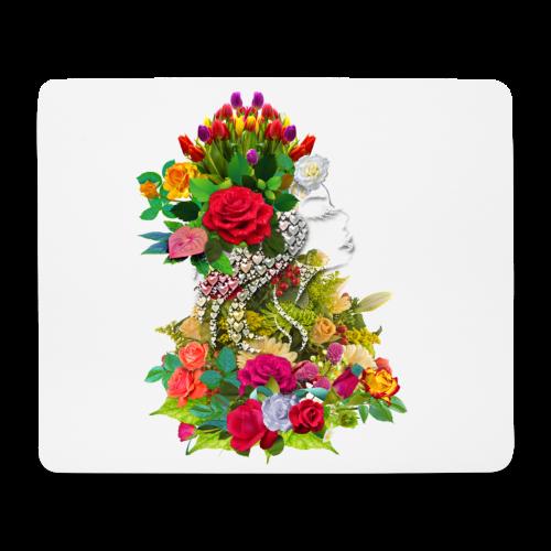 Lady flower by T-shirt chic et choc - Tapis de souris (format paysage)