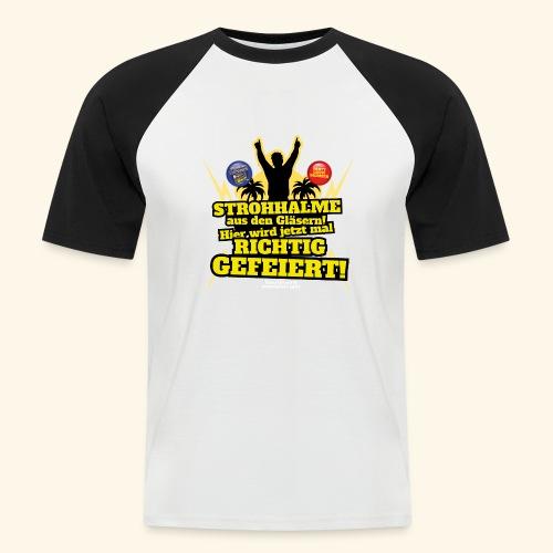 Party Crew T Shirt Strohhalm   Spruch - Männer Baseball-T-Shirt