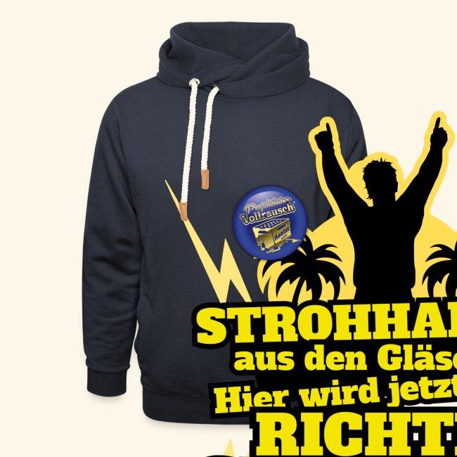 Party Crew T Shirt Strohhalm   Spruch