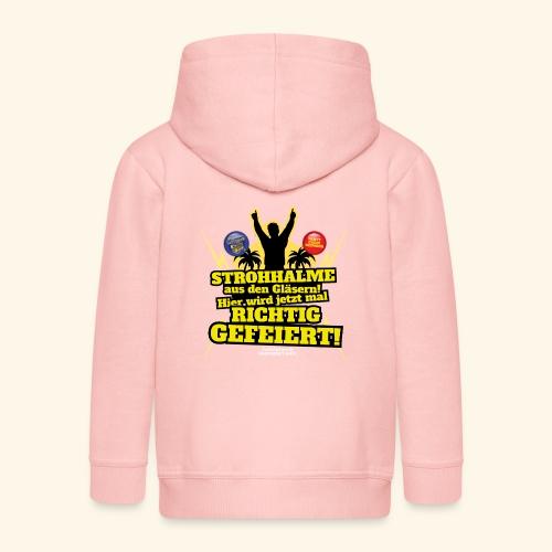 Party Crew T Shirt Strohhalm | Spruch - Kinder Premium Kapuzenjacke