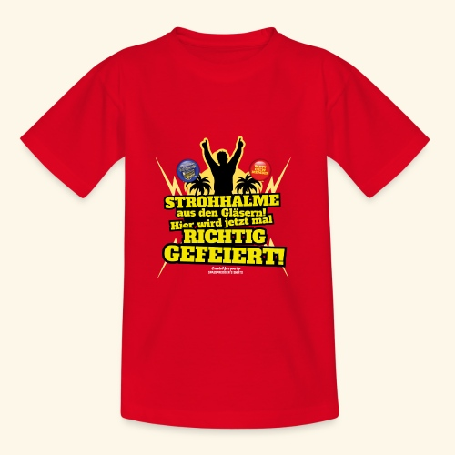 Party Crew T Shirt Strohhalm | Spruch - Kinder T-Shirt