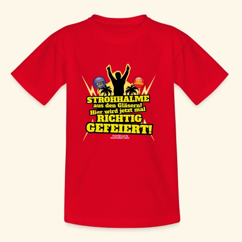 Party Crew T Shirt Strohhalm | Spruch - Teenager T-Shirt