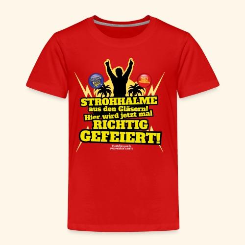 Party Crew T Shirt Strohhalm | Spruch - Kinder Premium T-Shirt