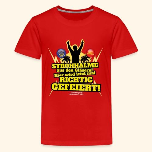 Party Crew T Shirt Strohhalm | Spruch - Teenager Premium T-Shirt
